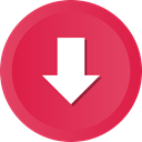 download, Downloads, Downloading, Down, save Crimson icon