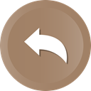 Back, Left, Arrow, previous, Direction Gray icon