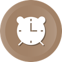 Clock, time, Alarm, watch, alarmclock, Alar Gray icon