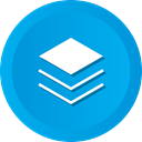 Add, Layer, Layers, stack DeepSkyBlue icon