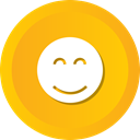 Face, happy, smiley, smile, Emoji Orange icon