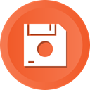 save, Disk, Floppy, Data, storage Tomato icon