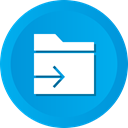 Folder, document, File, send, Arrow, Data DeepSkyBlue icon