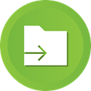 Folder, document, File, send, Arrow, Data YellowGreen icon