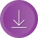 Downloading, Arrow, download, storage, Down, save DarkOrchid icon