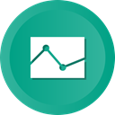 graph, Chat, Polylines, Finance, Analysis, comparison LightSeaGreen icon