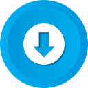 Down, save, Arrow, download, Downloads, Downloading DeepSkyBlue icon