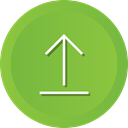 Direction, uploading, Arrow, Up, upload, navigation YellowGreen icon