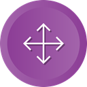 Arrows, screen, Full, Orientation, expand, Direction, Crossroads DarkOrchid icon