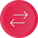 Arrows, switch, swap, Orientation, Direction Crimson icon