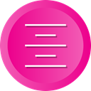 Text, Center, Control, Align, Paragraph DeepPink icon