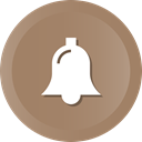Alert, bell, christmas, notification, church Gray icon
