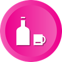 wine, cup, Alcohol, drink, water, Bottle, Juice DeepPink icon