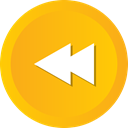 Multimedia, Left, Arrow, rewind, music, Back, player Orange icon