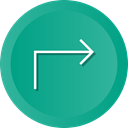 Back, send, reply, Multimedia, Arrow, navigation, Direction LightSeaGreen icon
