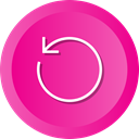 before, Circular, Arrow, Circle, rewind, Back DeepPink icon