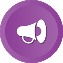 Sales, campgn, announcement, Promotion, megaphone, marketing DarkOrchid icon