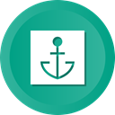 nautical, tattoo, slor, Boat, ship, marine, Anchor LightSeaGreen icon