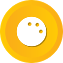 Game, Ball, pin, sports, Bowling Orange icon