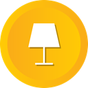 table, bedroom, lamp, electronic, desk Orange icon