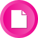 document, paper, File, Page, Blank DeepPink icon