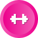Bodybuilding, fitness, gym, dumbbell, health, weight, sports DeepPink icon