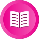 Book, Books, open, Library, education, reading DeepPink icon