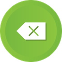 Backspace, delete, remove, Clear, Clean, erase YellowGreen icon