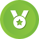 winner, Ribbon, award, medal, Prize, star YellowGreen icon
