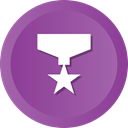 award, medal, Prize, winner, Ribbon, star DarkOrchid icon