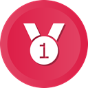 award, medal, Prize, winner, Ribbon Crimson icon