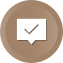 Message, Check, Comment, Chat, Bubble, done, Conversation Gray icon