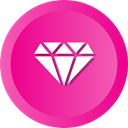 diamond, jewel, gem, Premium, gemstone, brilliant, rhinestone DeepPink icon