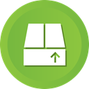 Delivery, crate, save, Box, upload, package YellowGreen icon