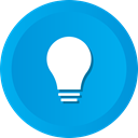 bulb, solution, Bright, Idea, lightbulb DeepSkyBlue icon