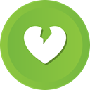 Heart, Break, Heartbroken, dumped, heartbreaker YellowGreen icon