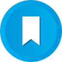 bookmark, Favorite, vertical, Ribbon DeepSkyBlue icon