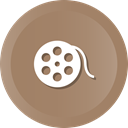 film, movie, Multimedia, Reel, Bobbin Gray icon