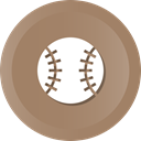 Ball, league, base, baseball, Catch, Mlb, major Gray icon