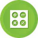 calculate, calculation, calculator, Business, education, math YellowGreen icon