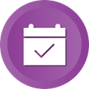 Check, ok, Calendar, date, event DarkOrchid icon