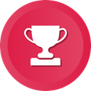 Prize, winner, solution, cup, Business, award, trophy Crimson icon