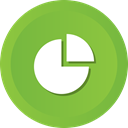 chart, pie, Diagram, Circular, infographic YellowGreen icon