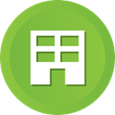 Estate, Business, Building, Company, Home, house, real YellowGreen icon