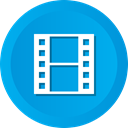 film, movie, video, Multimedia, play, Clip, Short DeepSkyBlue icon