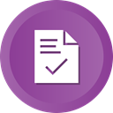 document, File, Check, ok, success, contract DarkOrchid icon