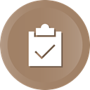 Clipboard, list, Check, ok, success, select, Tasks Gray icon