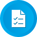 todo, Checklist, marks, Check, documents DeepSkyBlue icon