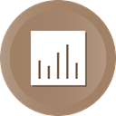 chart, graph, pie, growth, revenue Gray icon