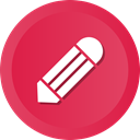 Edit, settings, Change, Options, pencil, write, tools Crimson icon